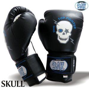 Boxhandschuhe für Jungs Totenkopf Motiv