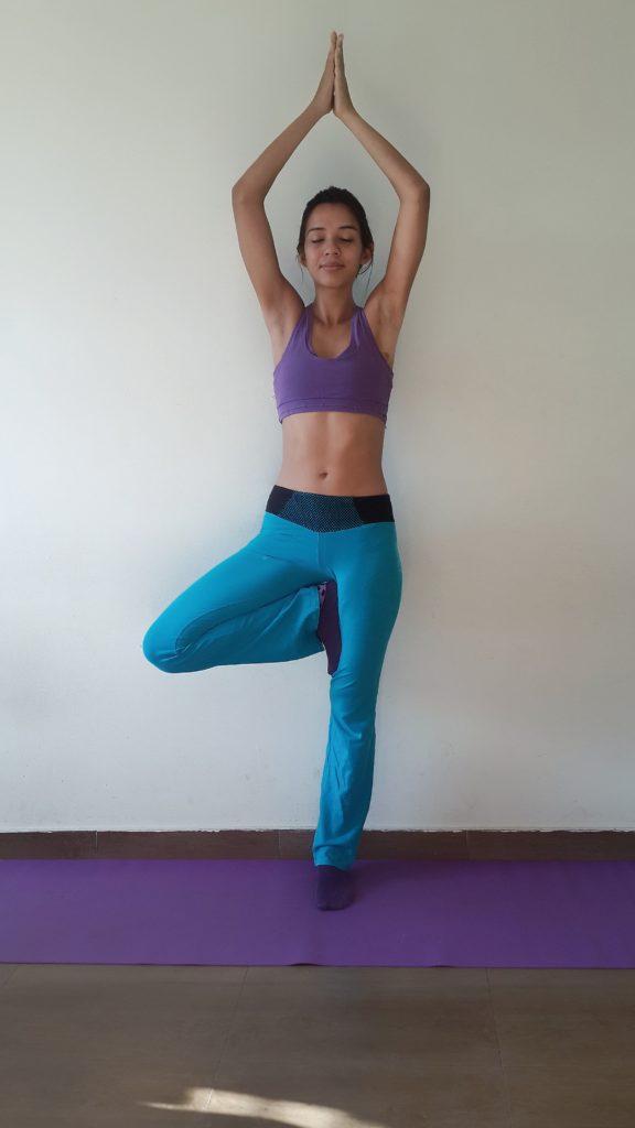 Baum Figur Yoga Übung Vrksasana